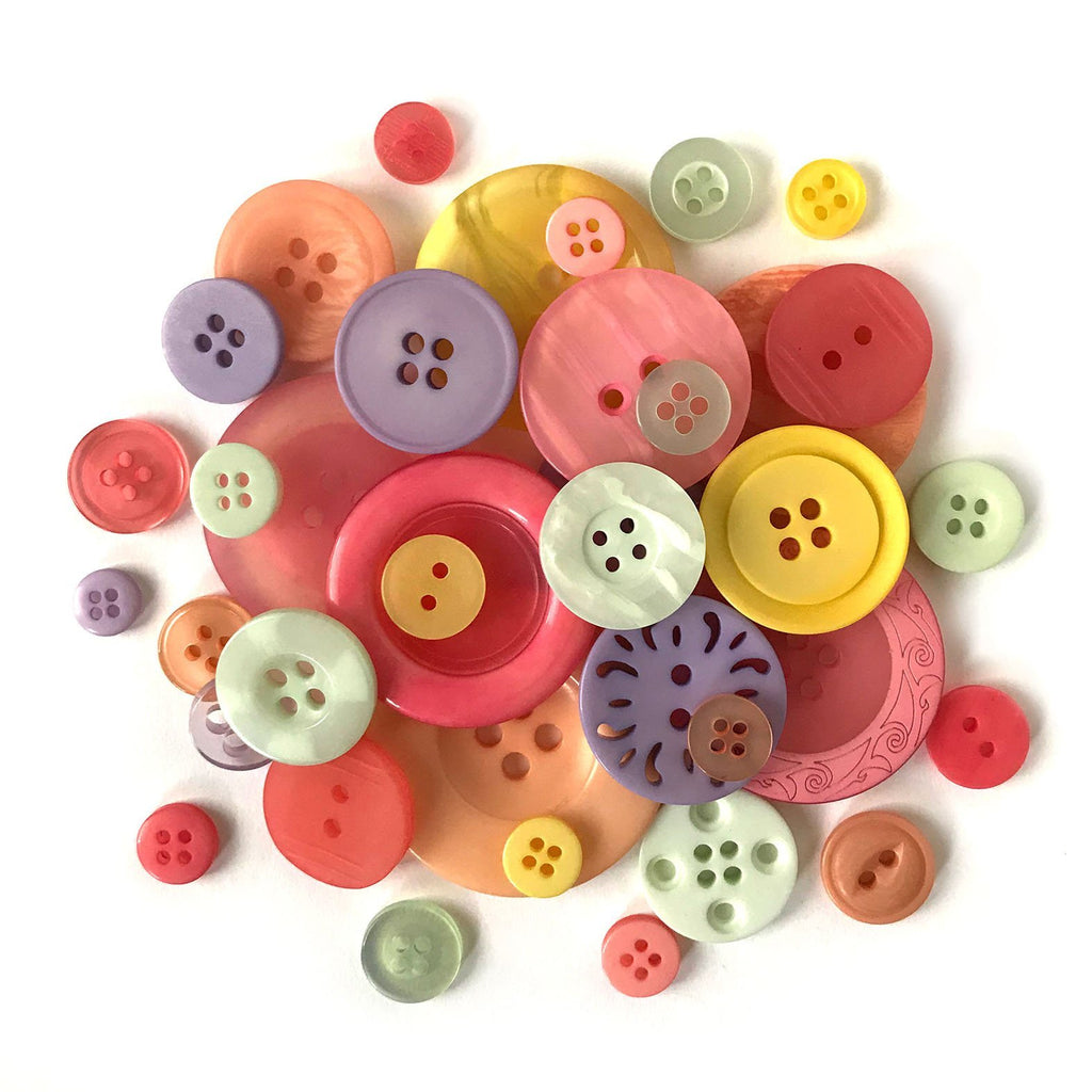 Summer Buttons-CJ105 - Buttons Galore and More