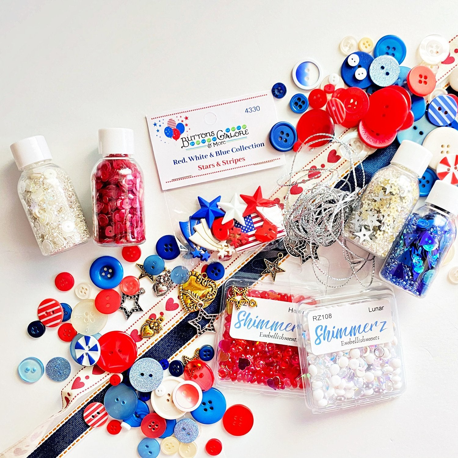 The Ultimate Patriotic Embellishment Bundle