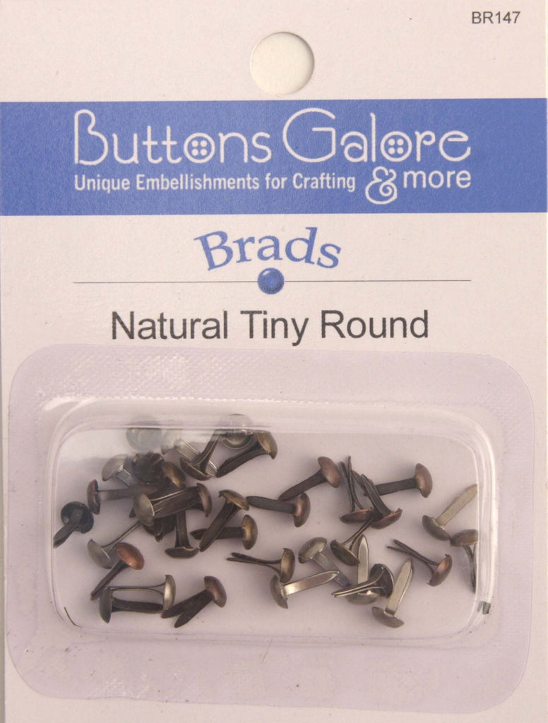 Tiny Natural Brads - BR147 - Buttons Galore and More