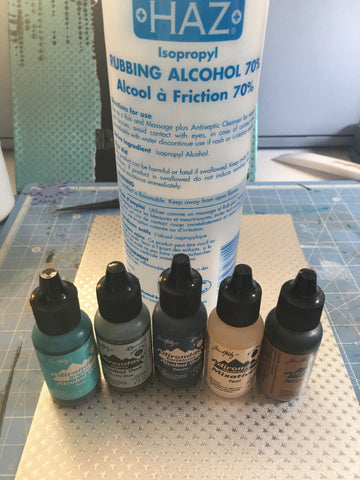 Decorating Rinea Foiled Papers with alcohol inks
