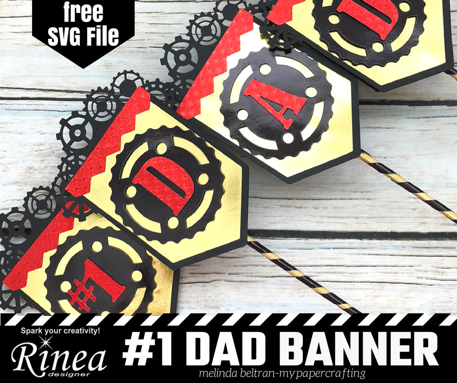Dad Banner using Rinea Foiled Paper
