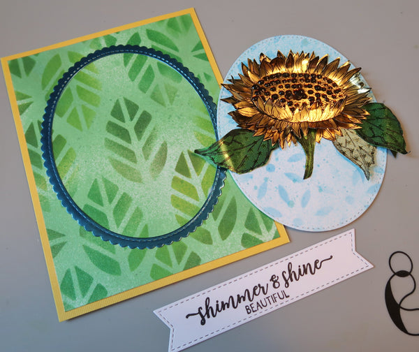 Shimmer & Shine Beautiful Sunflower Card with Roni Johnson