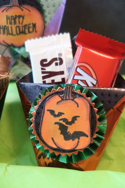 Rinea Trick or Treat Candy Treat Pocket by Roni Johnson