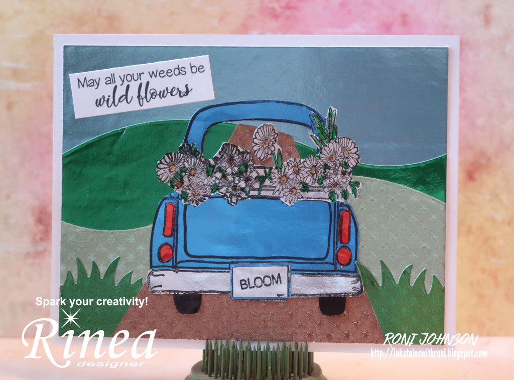 Rinea Wildflower Pickup Truck Card with Roni Johnson