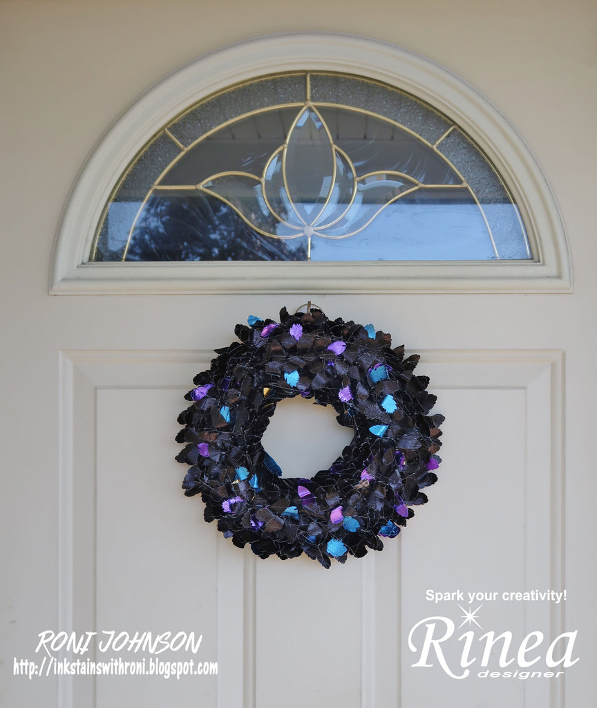 Rinea Raven Feather Wreath with Roni Johnson
