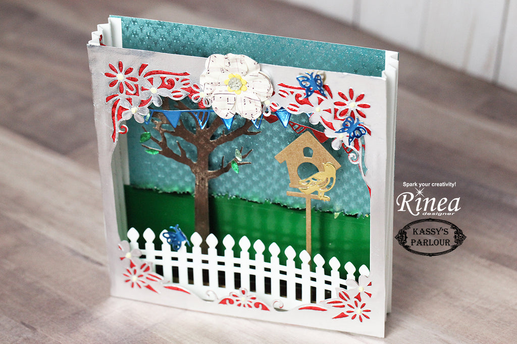 3D Summer theme with Rinea Foiled Paper