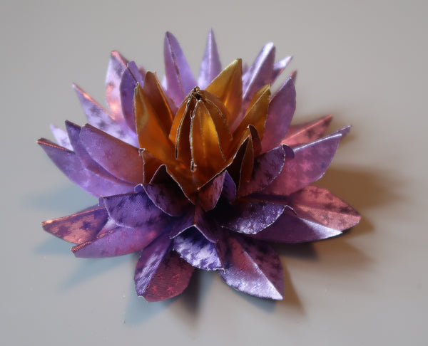 Water Lilies using Rinea Foiled Papers by Roni Johnson