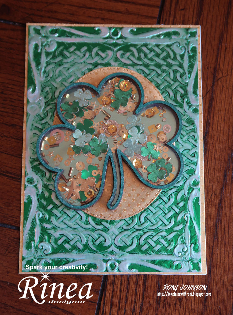 Rinea Foiled Paper Shamrock Shaker with Roni Johnson