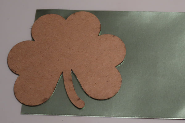 Rinea Foiled Paper Shamrock Shaker by Roni Johnson