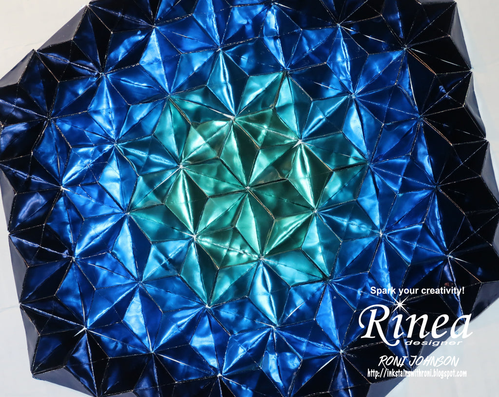 Rinea Foiled Paper Blue Variety Pack Origami Wall Art with Roni Johnson