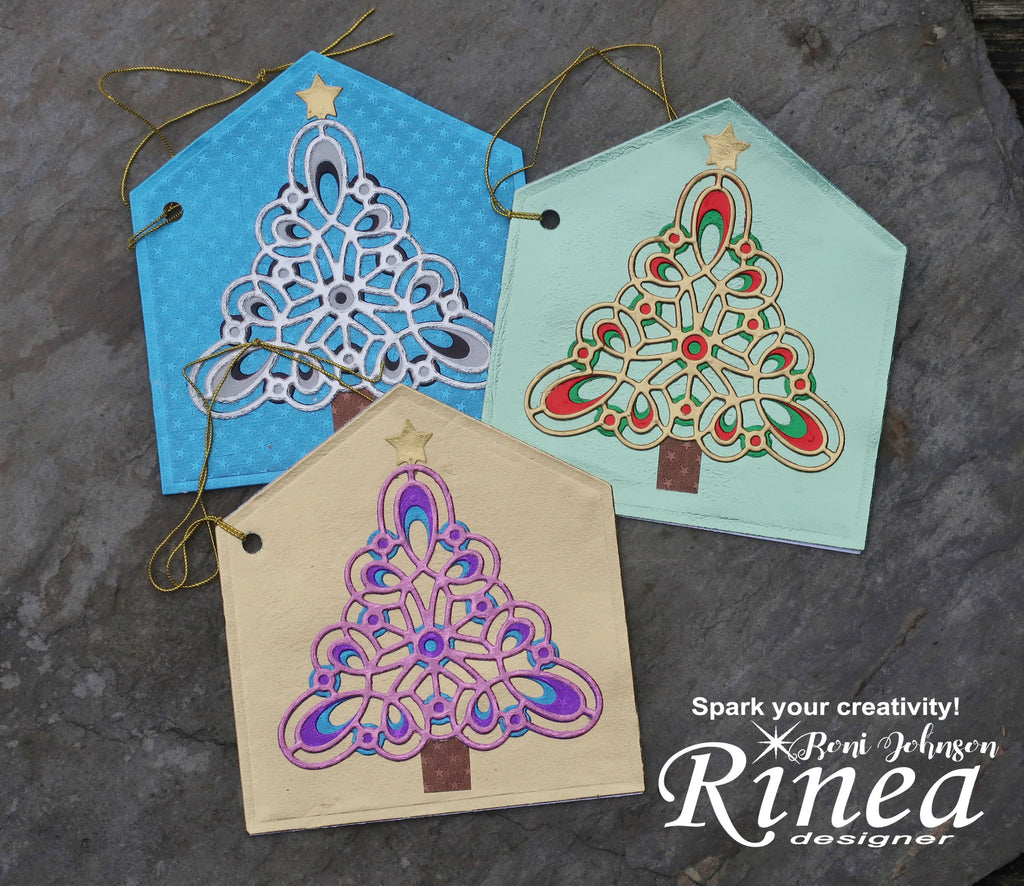 Rinea Foiled paper Banner Gift Tags by Roni Johnson