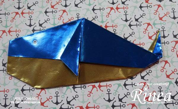 Rinea Cobalt Origami Whales with Roni Johnson