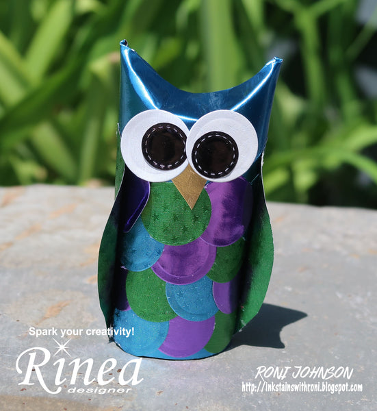Rinea Foiled Paper Owls with Roni Johnson