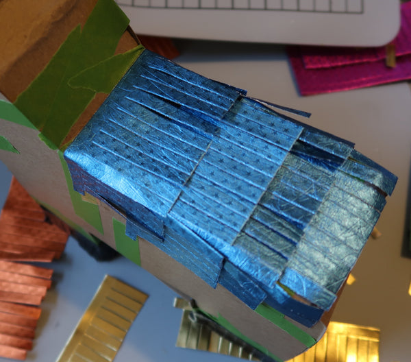 Rinea Foiled Paper Donkey Pinata by Roni Johnson