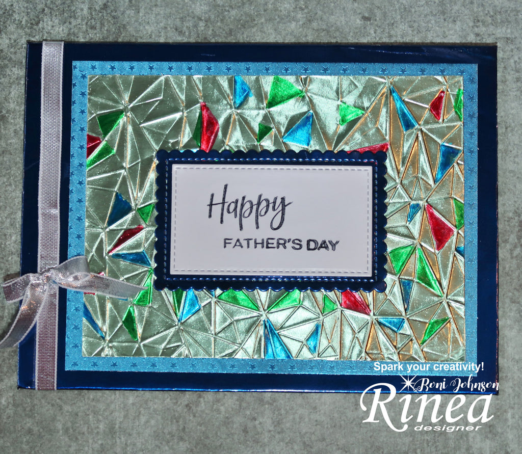 Rinea Foiled Paper 3D Embossed Father's Day Card by Roni Johnson