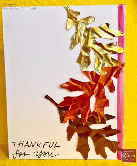 Autumn Card with Rinea Foiled Paper