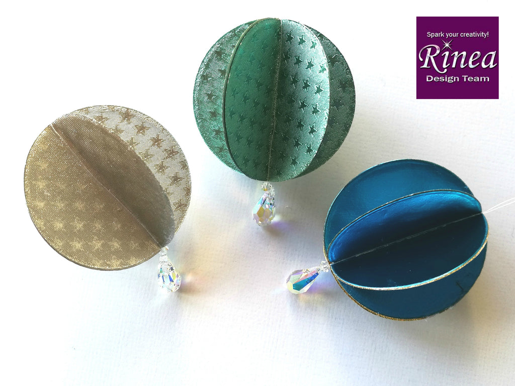 Christmas Ornaments with Rinea Foiled Paper