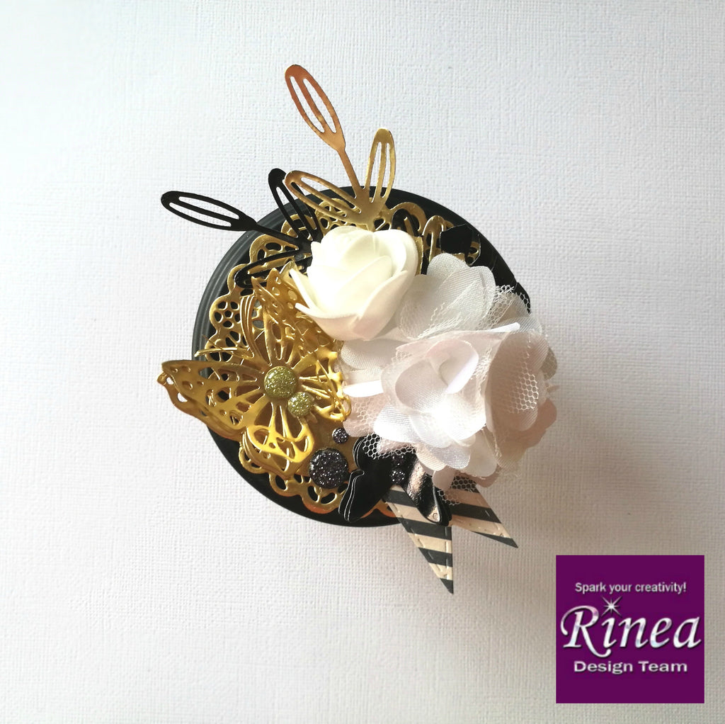 Upcycled Gift Jars With Rinea Foiled Papers