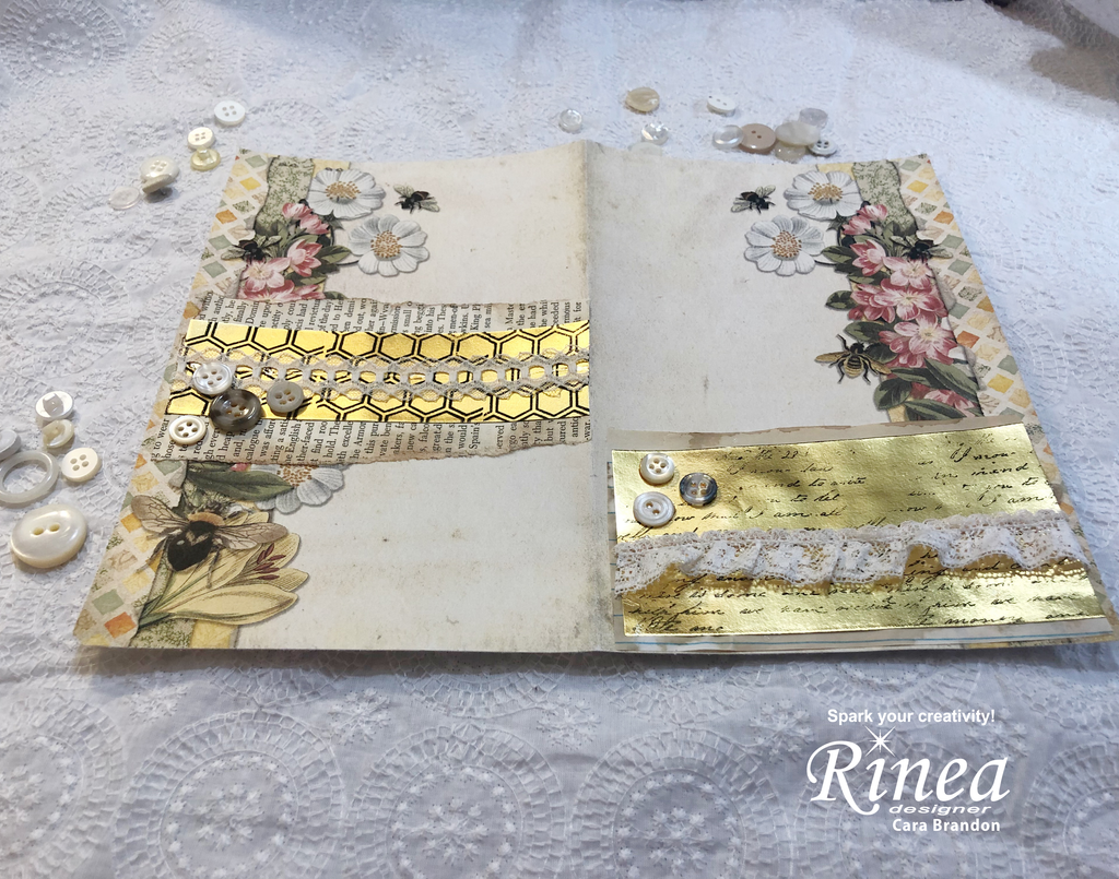 Junk Journal using Rinea Foiled Paper