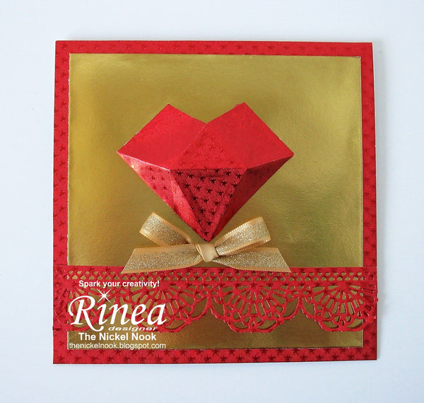 Faceted Heart Card