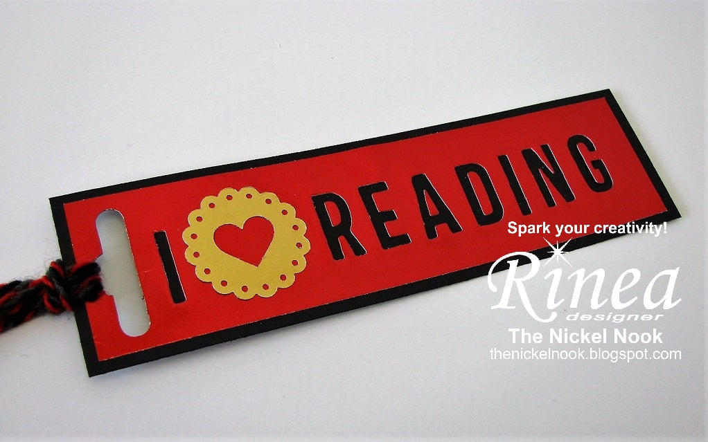 Bookmark with Rinea Foiled Paper