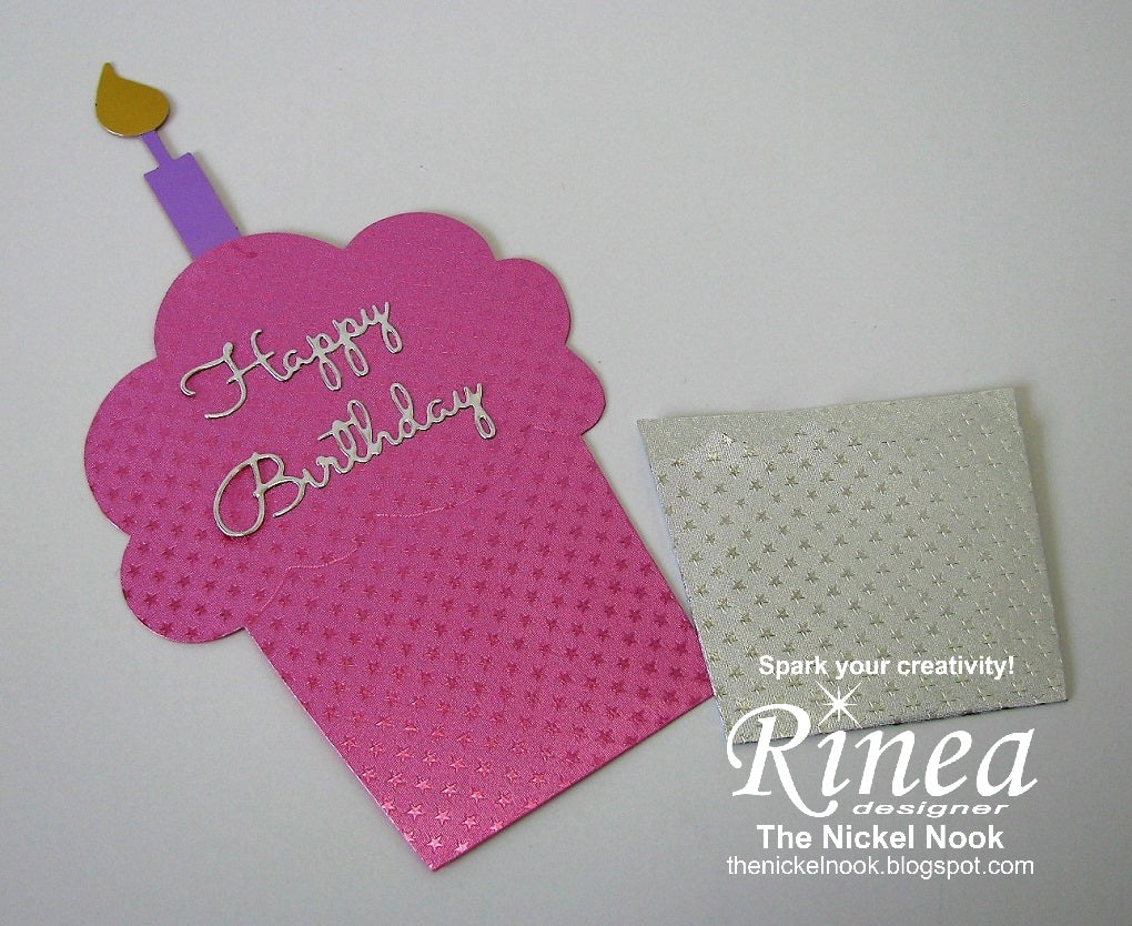 Cupcake Card with Rinea Foiled Paper