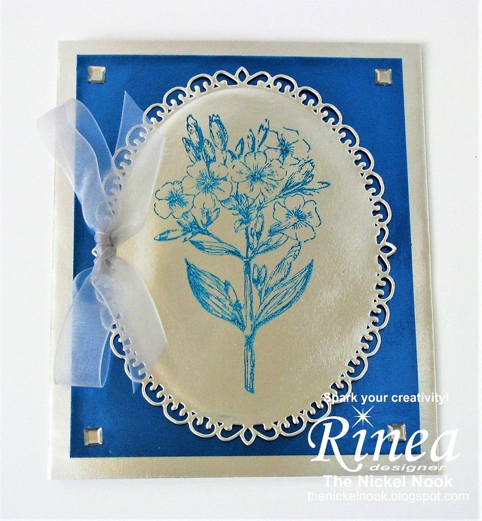Floral Bouquet Card using Rinea Foiled Paper
