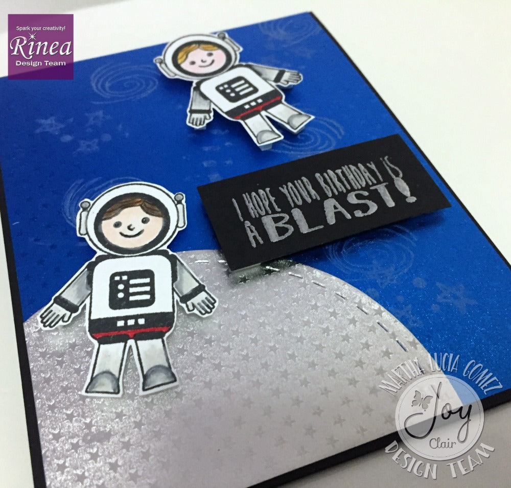 Halloween Card and Out of this World Card using Rinea Foiled Paper and Cricut
