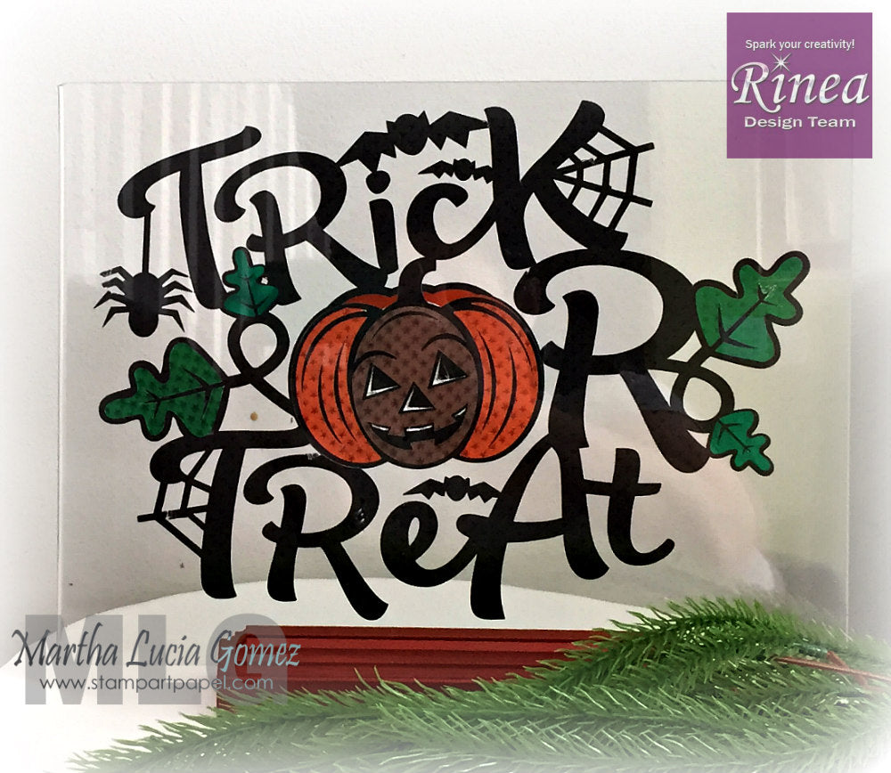 Trick or Treat Halloween Decoration using Rinea Foiled Paper