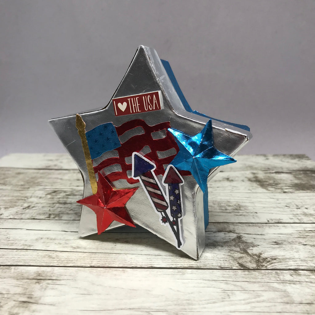 Patriotic Crafts using Rinea Foiled Paper