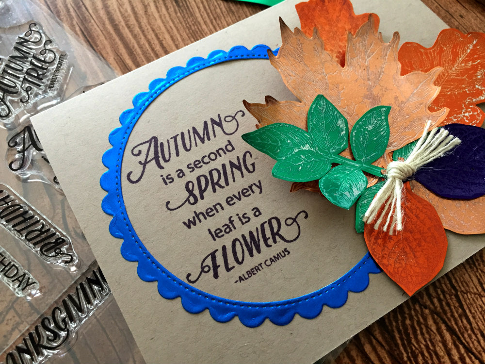 Colorful Autumn Card