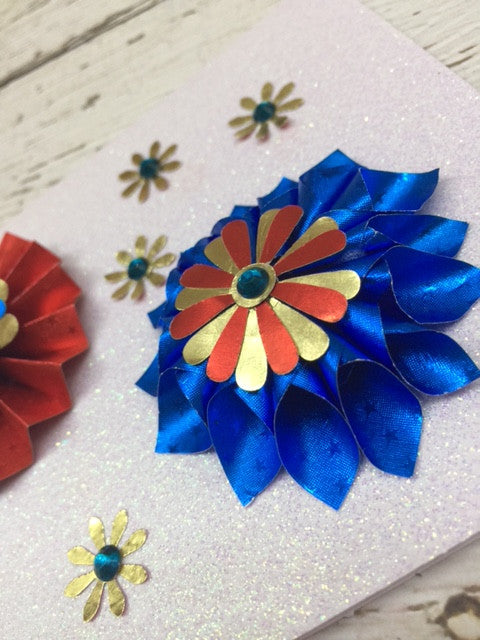 Patriotic Flowers with Rinea Foiled Paper