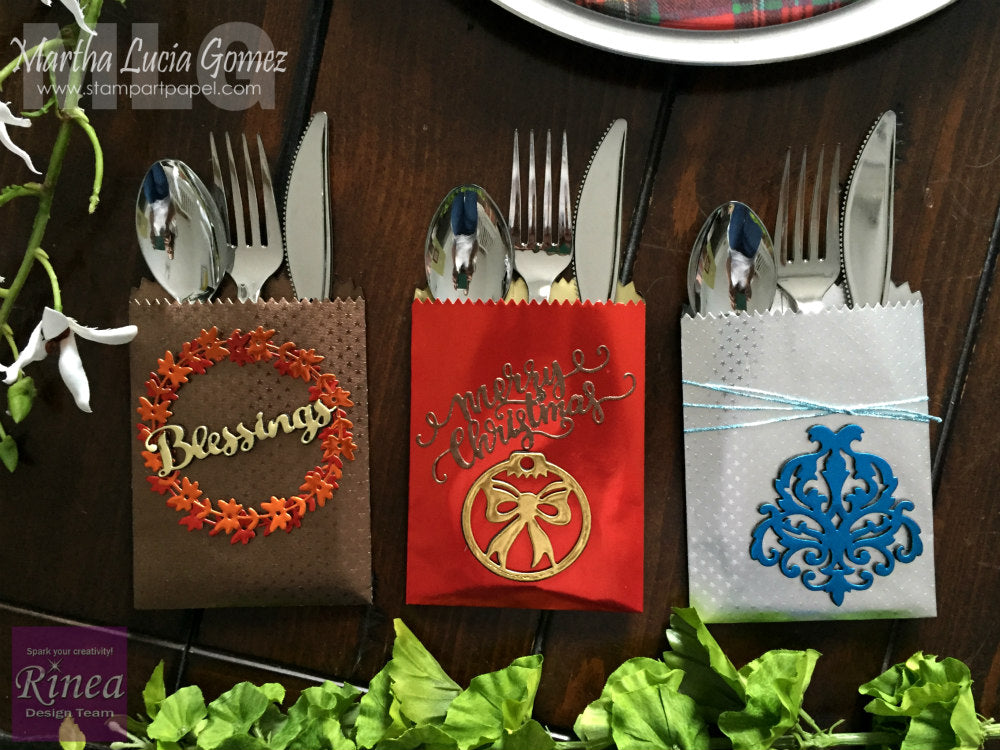 Holiday Table Decorations with Rinea Foiled Paper