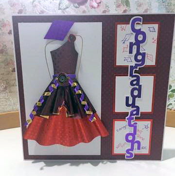 Congratulations Card Using Rinea Foiled Paper