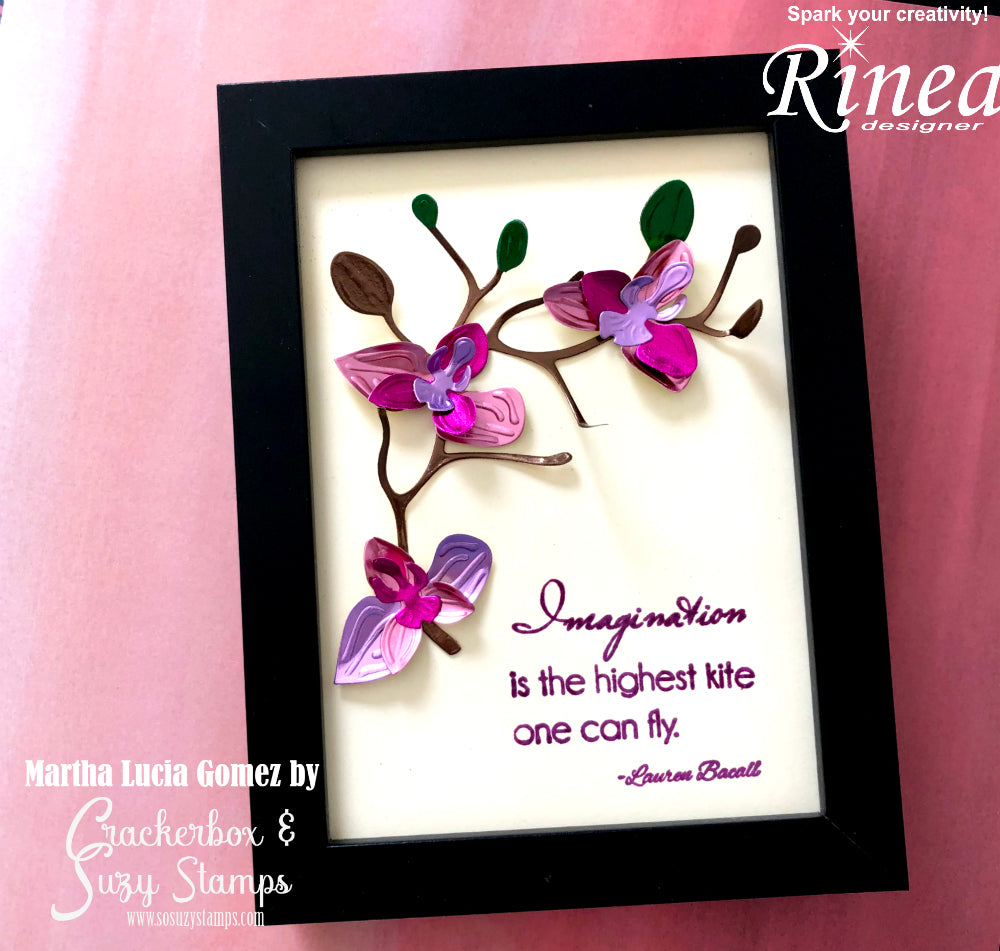 Flower Frame with Rinea Foiled Paper