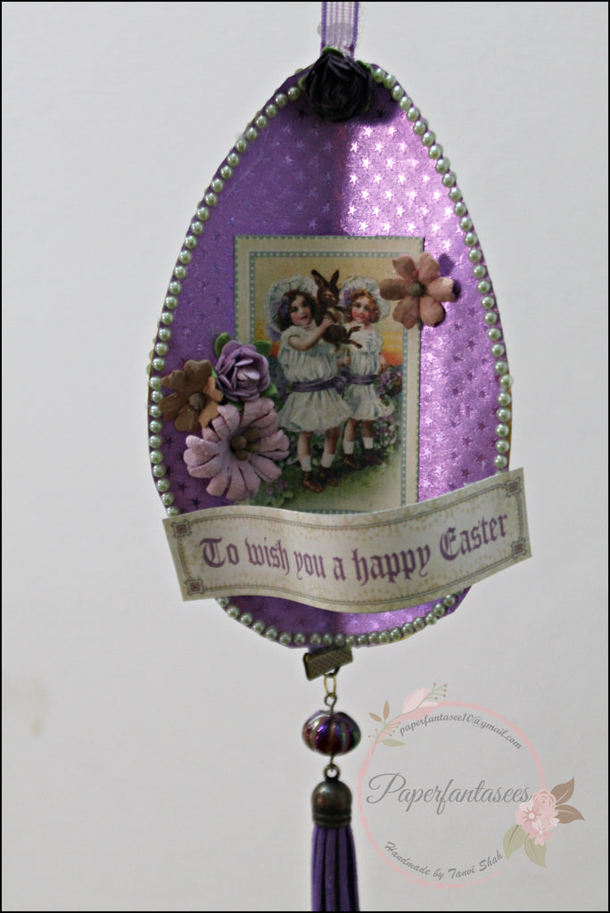 Easter Home Decor with Rinea Foiled Paper