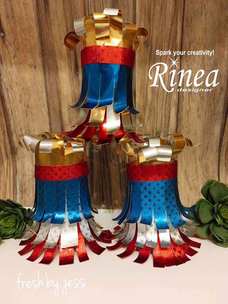 Patriotic Decorations using Rinea Foiled paper