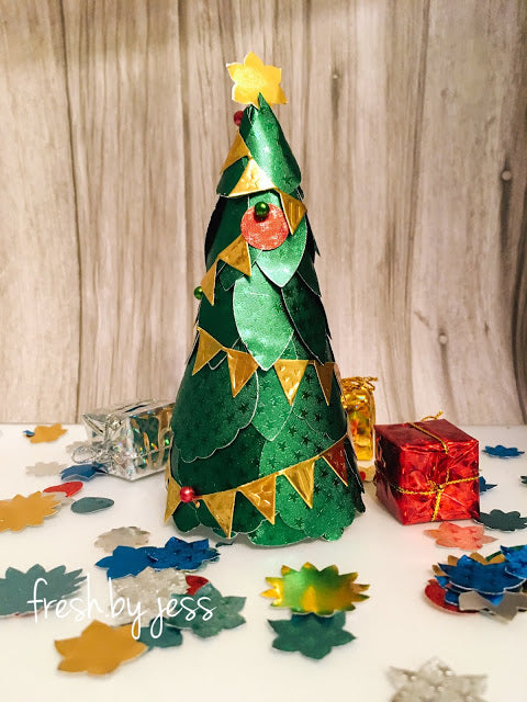 Christmas Tree Decoration using Rinea Foiled paper