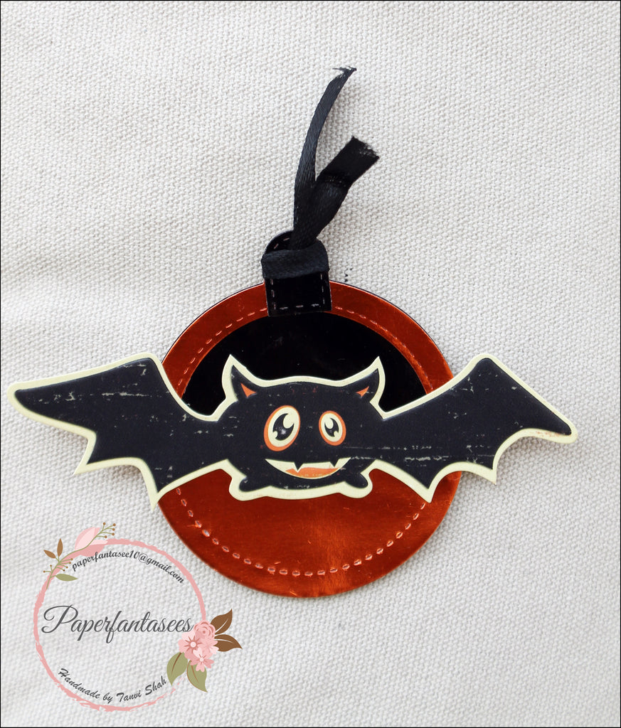 Halloween Tags with Rinea Foiled Paper