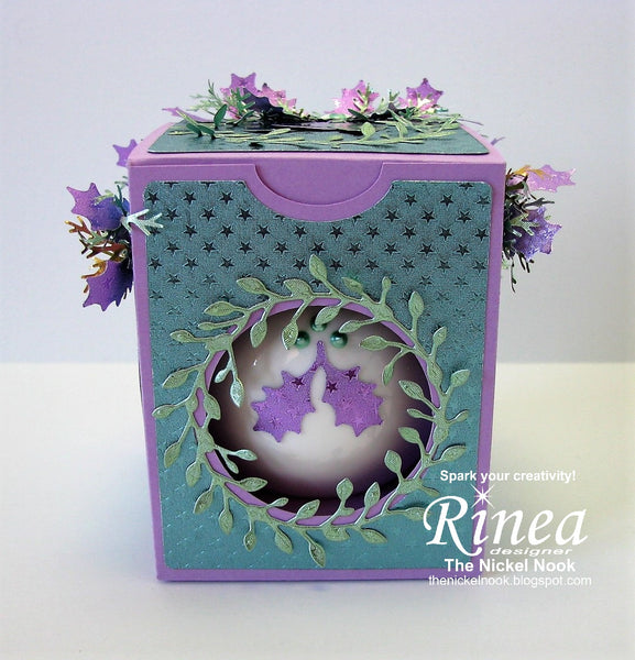 Christmas Ornament and Box using Rinea Foiled Paper