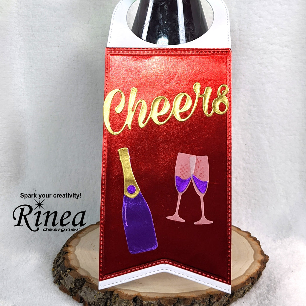 Wine Tag Card using Rinea Foiled Paper