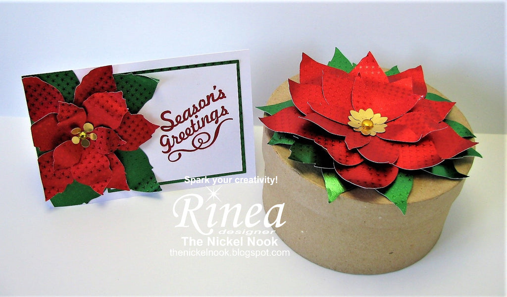 Poinsettia Card and Topper