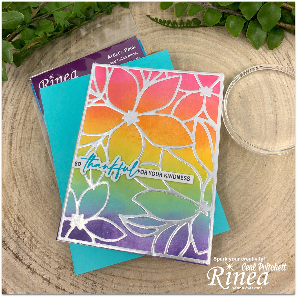 Cardmaking with Rinea Foiled Paper