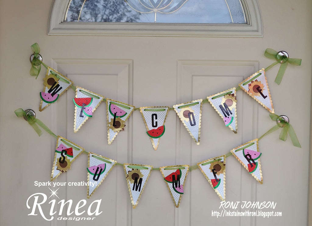 Welcome Summer Banner using Rinea Foiled Paper