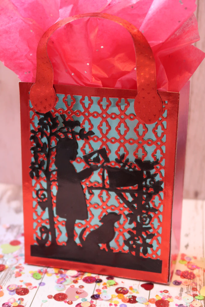 Rinea Foiled Paper Valentine's Treat Bag by Roni Johnson