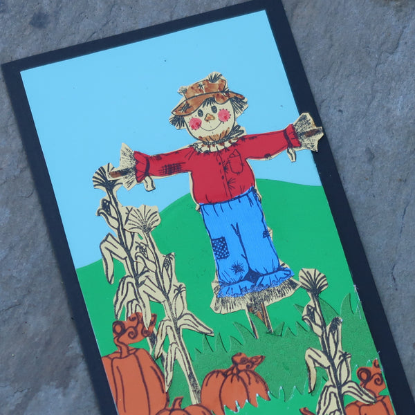 Rinea Foiled Papers Scarecrow Card by Roni Johnson