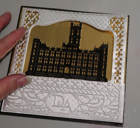 Rinea Foiled Paper Elegant Easel Card by Roni Johnson
