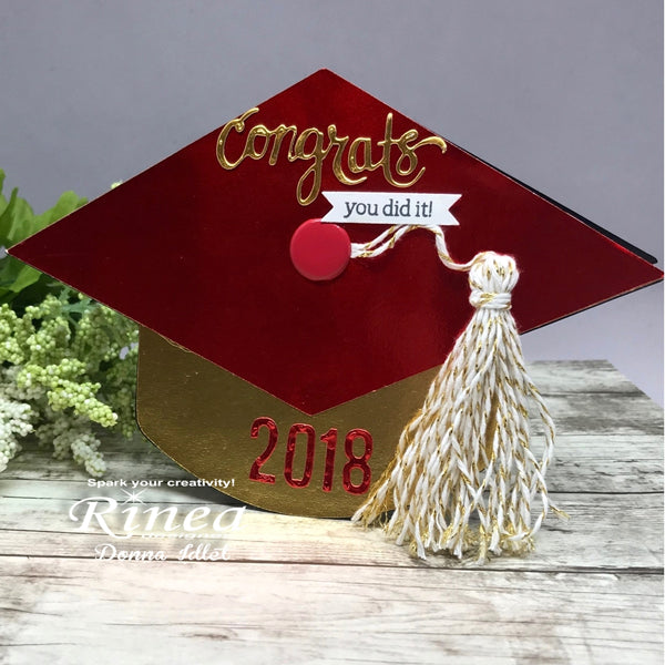 Graduation Card using Rinea Foiled Paper