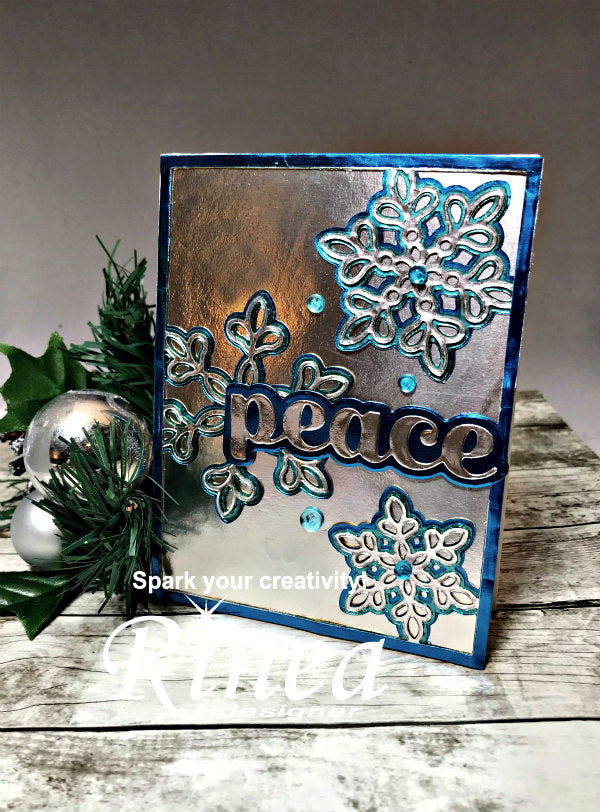 Card using Rinea Foiled Paper