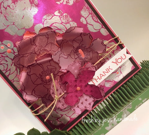 Cardmaking with Rinea Foiled Paper and Ghost Ink
